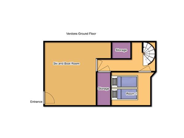 Chalet Verdons Ground Floor Floorplan