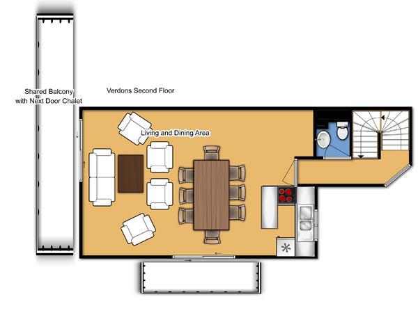 Chalet Verdons Second Floor Floorplan