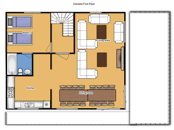 Chalet Camelia First Floor Plan