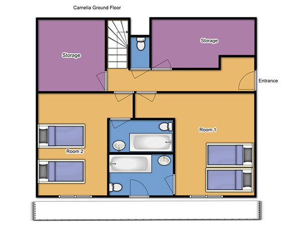 Chalet Camelia Ground Floor Plan