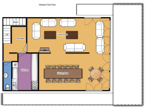 Chalet Victoria First Floor Plan