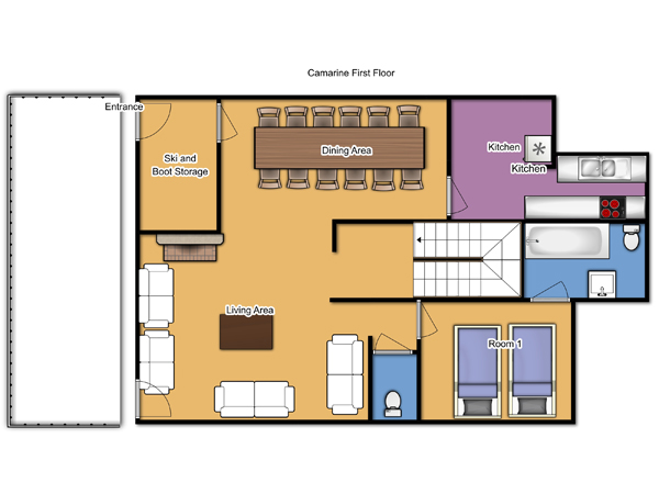 Chalet Camarine Ground Floor Plan