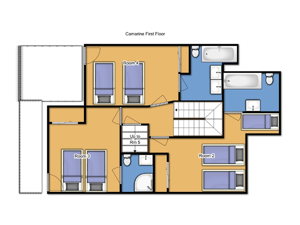 Chalet Camarine First Floor Plan