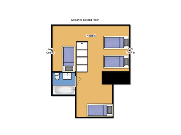 Chalet Camarine Second Floor Plan