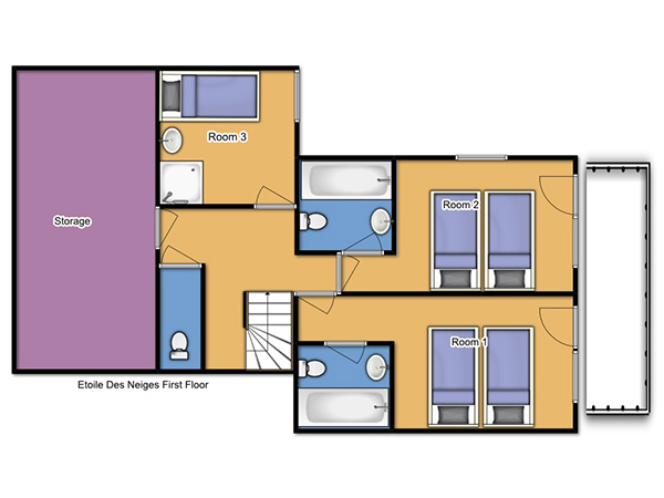 Chalet Etoile des Neiges First Floor Plan