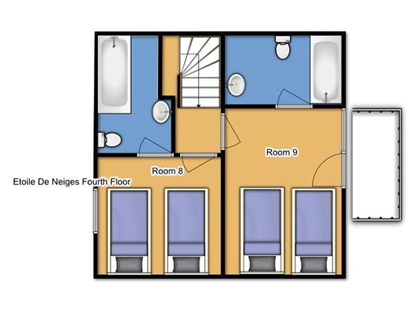 Chalet Etoile des Neiges Fourth Floor Plan