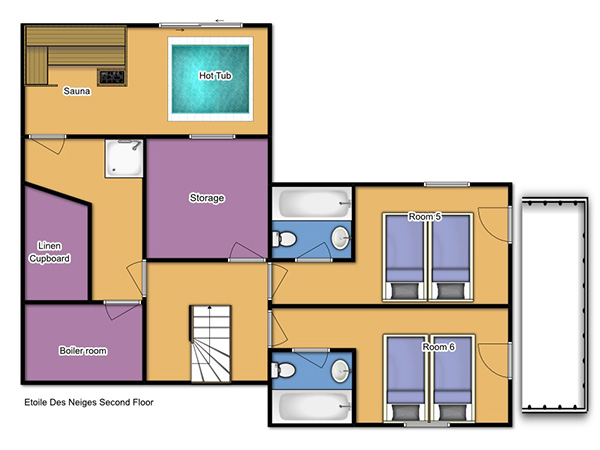 Chalet Etoile des Neiges Second Floor Plan