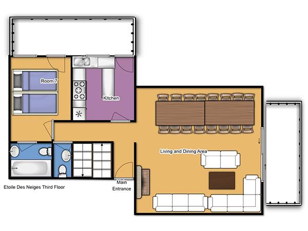 Chalet Etoile des Neiges Third Floor Plan