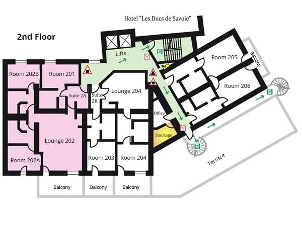 Le Savoie 2nd Floor Plan