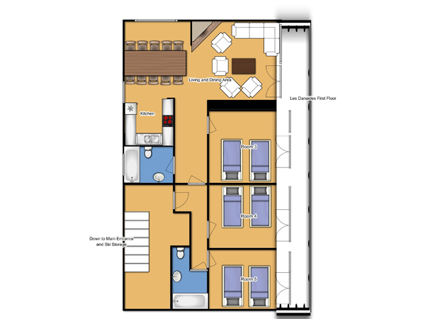 Chalet Les Danaides First Floor Plan