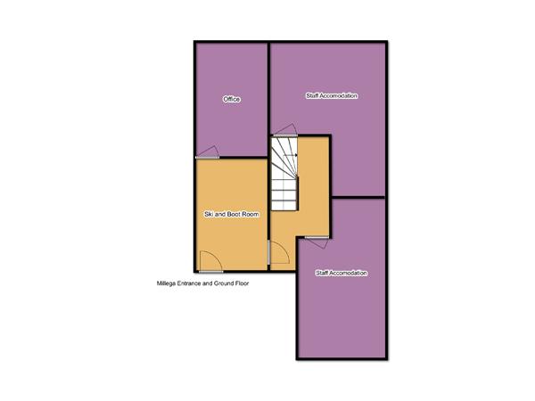 Chalet Millega Ground Floor Plan