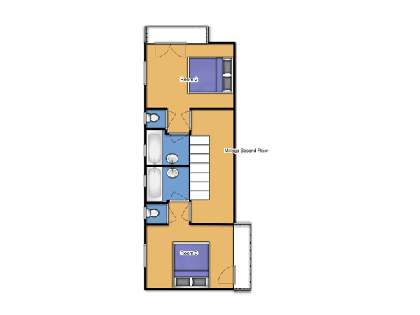 Chalet Millega Second Floor Plan