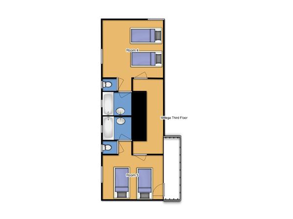 Chalet Millega Third Floor Plan