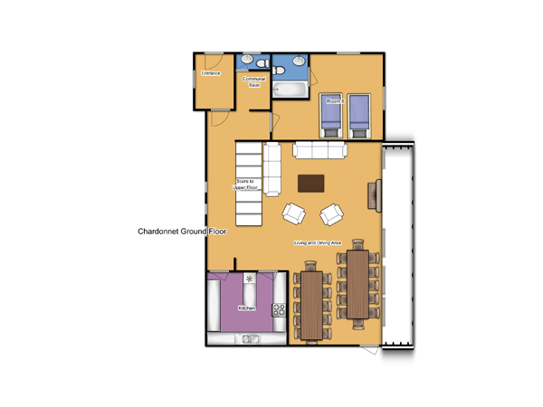 Chalet Chardonnet Ground Floor Plan