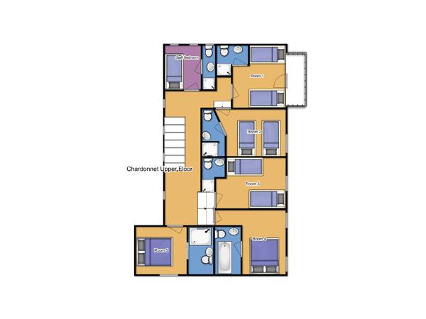 Chalet Chardonnet Upper Floor Plan