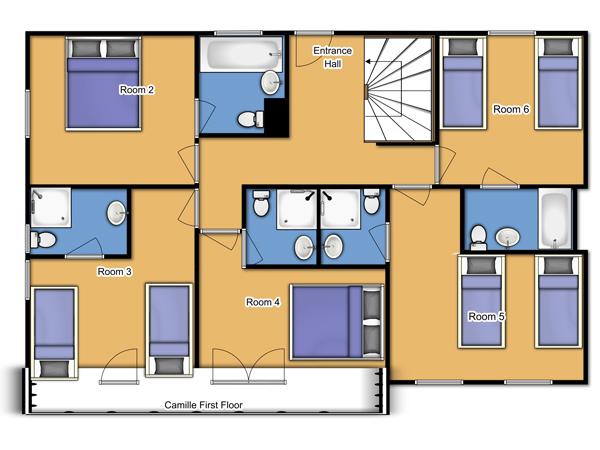 Chalet Camille First Floor Plan