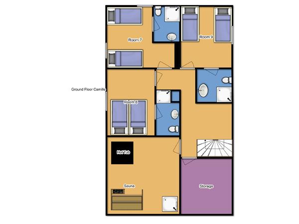 Chalet Camille Ground Floor Plan