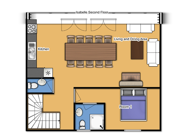 Chalet Isabelle Second Floor Plan