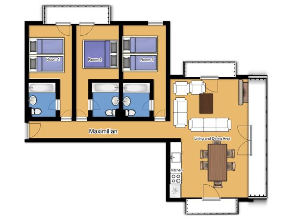 Chalet Maximillian Floorplan