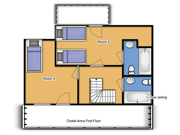 Chalet Anna First Floor floorplan