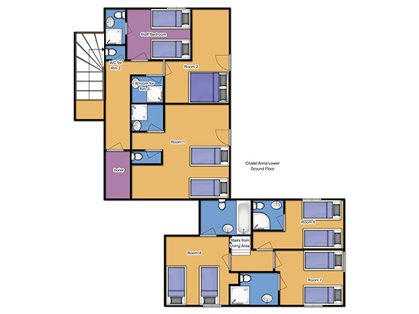 Chalet Anna Lower Ground Floor floorplan
