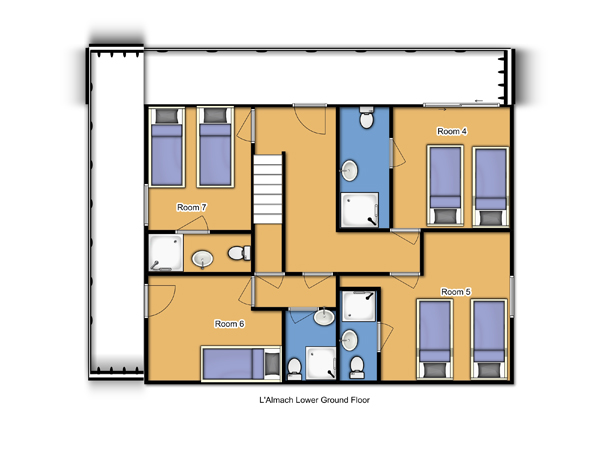 Chalet Almach Ground Floor plan