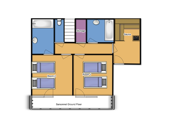 Chalet Sarsonnet Ground Floor floorplan