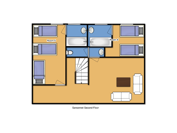 Chalet Sarsonnet Second Floor floorplan