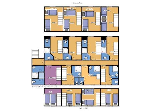 Chalet Chanterelles First Floor floorplan
