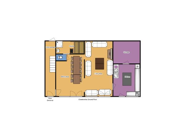 Chalet Chanterelles Ground Floor floorplan