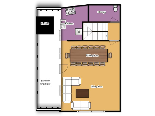 Chalet Sarenne First Floor Floorplan
