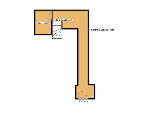 Chalet Sarenne Ground Floor Floorplan
