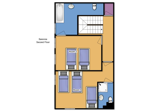 Chalet Sarenne Second Floor Floorplan