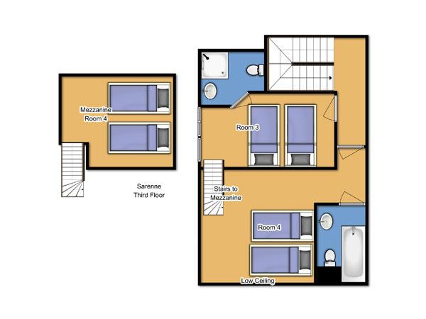 Chalet Sarenne Third Floor Floorplan