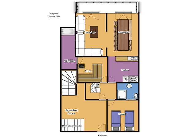 Chalet Pregentil Ground Floor Floorplan