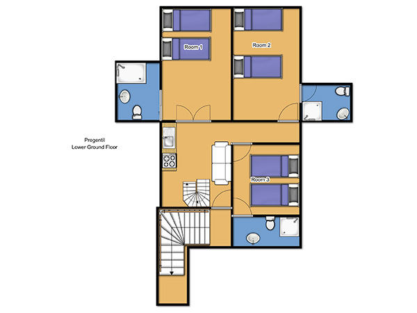 Chalet Pregentil Lower Ground Floor Floorplan
