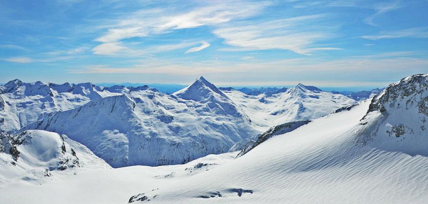 Saas Fee, panorama view