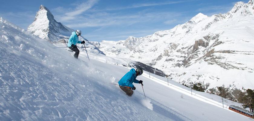 Zermatt, off piste skiers