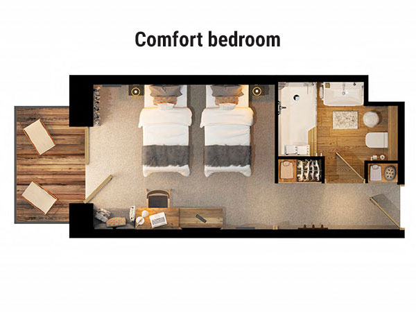 Hotel Avancher Comfort Bedroom Floor Plan