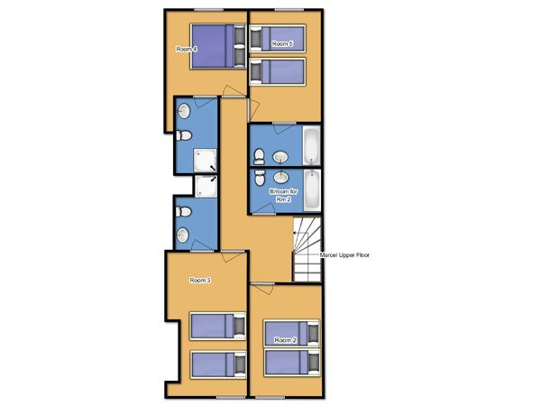 Chalet Marcel upper floorplan