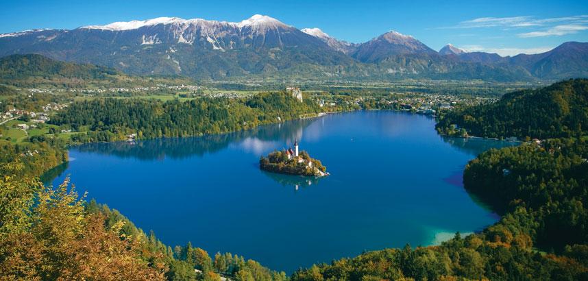 Walking in Lake Bled