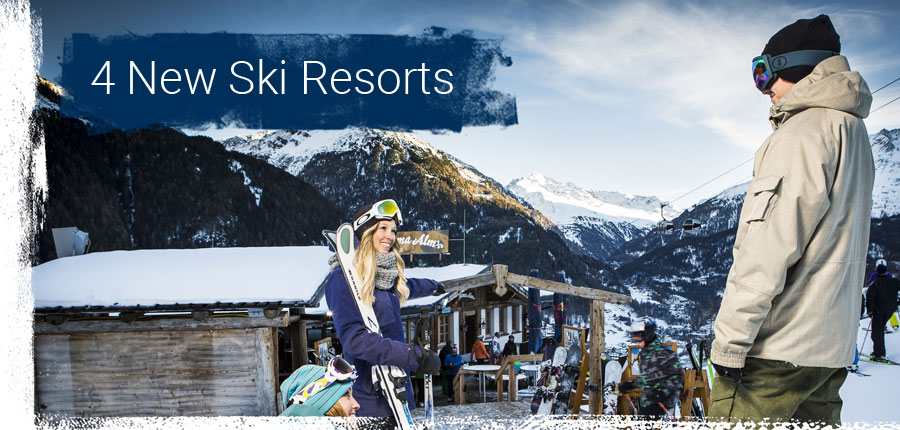 4 New Ski Resorts