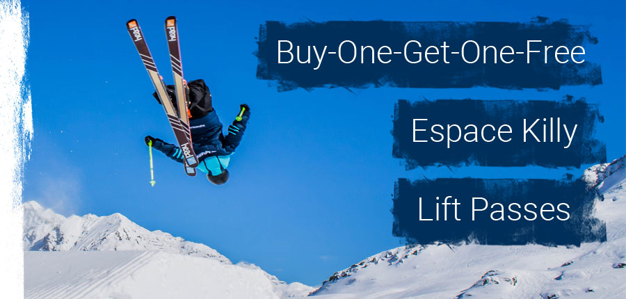 BOGOF Espace Killy Lift Passes
