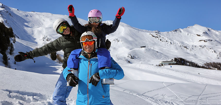 Family ski holidays in Pila and Aosta, Italy