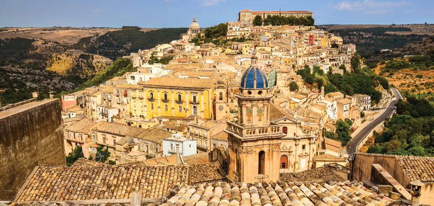View of the rooftops in Ragusa, Sicily