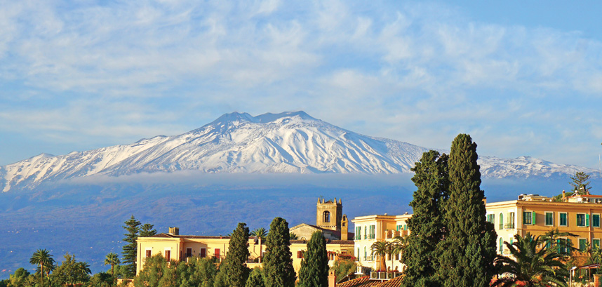 View of Mount Etna in Sicily