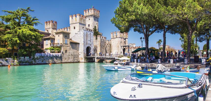 Sirmione castle on Lake Garda