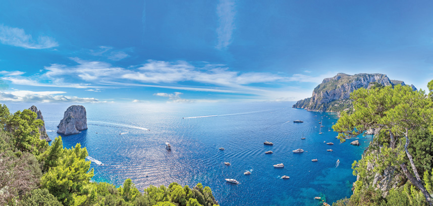View from the Island of Capri