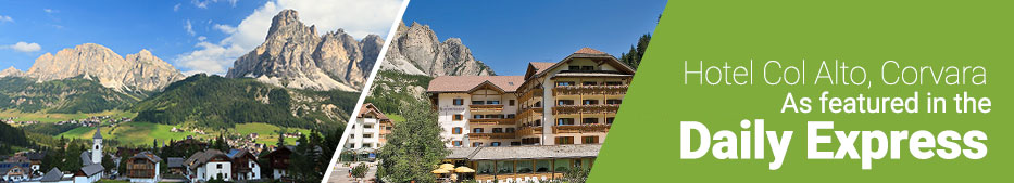 Hotel Col Alto in Corvara, as featured in the Daily Express