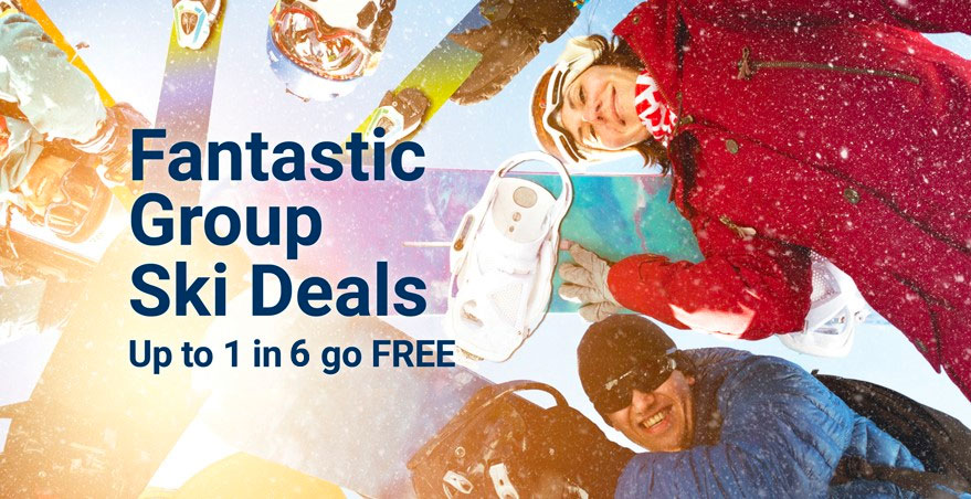 Group Ski Holidays - Up to 1 in 6 go free